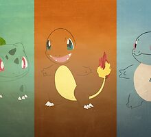 Kanto Starters by Adam May