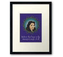 OUAT - Believe In Hope Framed Print
