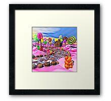 Pink Candyland Framed Print
