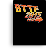 Back to the future 2015 Logo Canvas Print