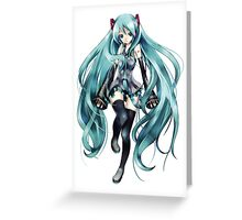 Vocaloid - Miku Hatsune Greeting Card