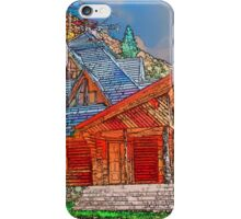 Wooden house of forester iPhone Case/Skin