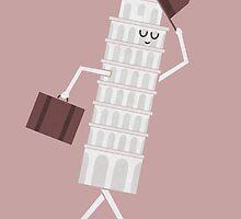 The Leaving Tower Of Pisa by Teo Zirinis