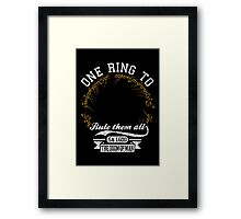 One ring to.. Framed Print