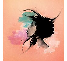 Psychedelic Blow Japanese Girl Photographic Print