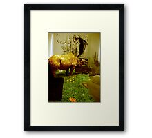 The lounge needs mowing again Framed Print