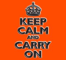 Keep Calm & Carry On - Be British! (Chisel red) by TOM HILL - Designer