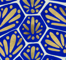 Sea Turtle – Navy & Gold Sticker