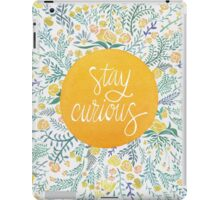 Stay Curious – Yellow & Green iPad Case/Skin