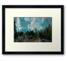 Evening looking at the heavens... Framed Print