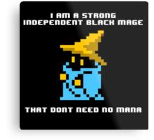 Strong Black Mage Metal Print