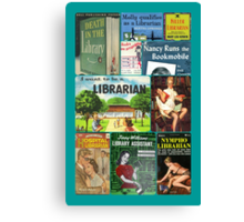 Librarians on Books Canvas Print