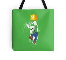 Luigi Paint Splatter Shirt Tote Bag