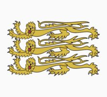 Royal Banner of England; Three Lions, English, British UK by TOM HILL - Designer