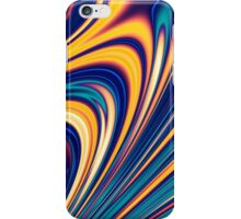 Color and Form - Curved Waves Flowing Lines  iPhone Case/Skin