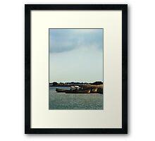 Boats and Wrecks (Île de Noirmoutiers - Vendée, France) Framed Print