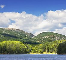 Otter Cove And mountains Acadia National Park by KWJphotoart