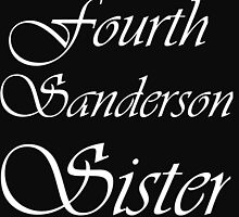 FOURTH SANDERSON SISTER BLK TEE by Divertions