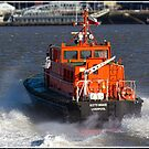 Liverpool Pilot Boat on the Mersey by alan tunnicliffe
