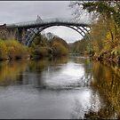 The bridge at Ironbridge by alan tunnicliffe
