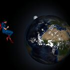 Superman Hovers Above Earth by Cue-Fanfare