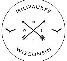 Milwaukee Compass T-Shirt by Chris Connell