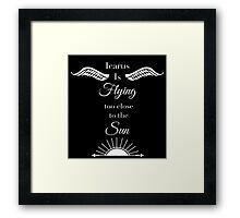 Icarus is Flying Framed Print
