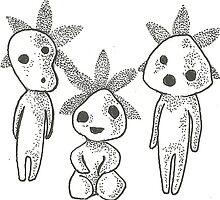 Kodama flower babies by pixelfawnn