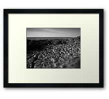 The Pentagon Rocks Black & White Framed Print