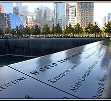 9/11 Memorial in NYC by Mikell Herrick
