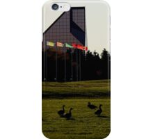 Canada Geese at The Royal Canadian Mint iPhone Case/Skin