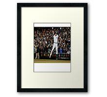 jumping jeter Framed Print
