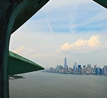 NYC From Lady Liberty by jaztastik