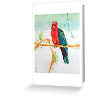 The Parrot King Greeting Card
