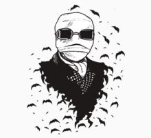 Universal Horror Monsters: The Invisible Man Pen and Ink Illustration by starkgravingmad