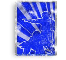 """BLUE Army """"ODST"""" Propaganda Canvas Print"""