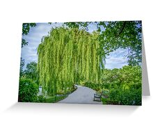 Under the Weeping Willow Greeting Card