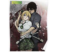 Anime: BTOOOM! - Ryota & Himiko Poster