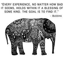 Buddha Wisdom Elephant by Madeline Margaret