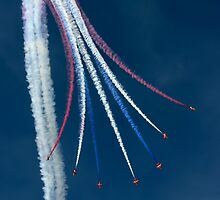 Red Arrows - Vertical Break by © Steve H Clark Photography