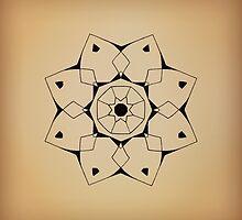 Mandala #206 || Tan by RedBookJournals