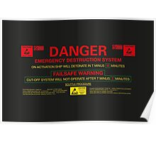 EMERGENCY DESTRUCTION SYSTEM Poster