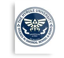 Hyrule University - Swords, Bombs & Bows Metal Print