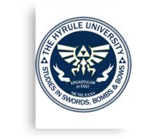 Hyrule University - Swords, Bombs & Bows Canvas Print