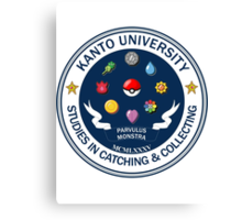 Kanto University - Pokemon Studies Canvas Print