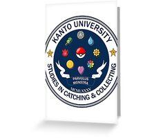 Kanto University - Pokemon Studies Greeting Card