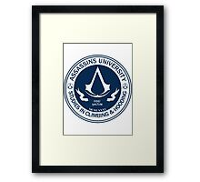 Assassins University - Climbing & Hooding Framed Print