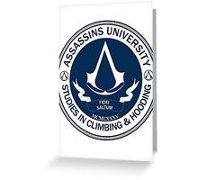 Assassins University - Climbing & Hooding Greeting Card