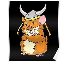 The Mighty Viking Hamster Poster