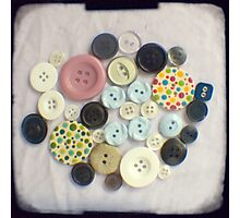 Buttons - ttv photograph Photographic Print